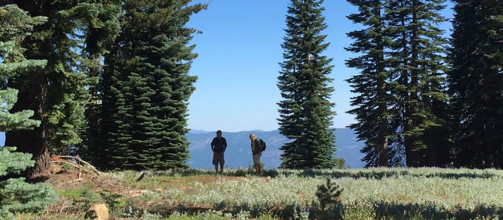 John & Rich upper camp site Eureka Peak 1366 x 597